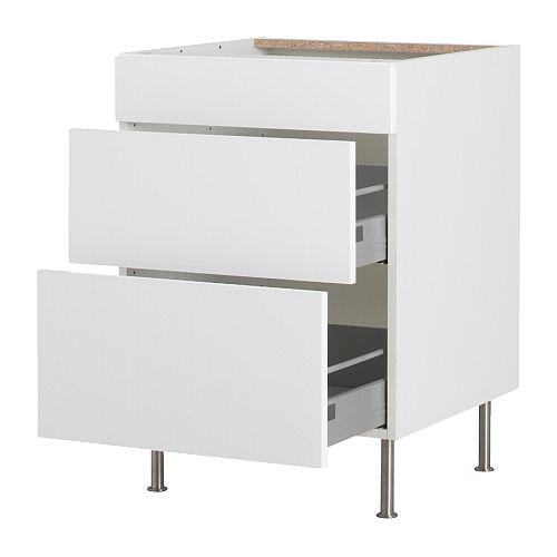 Напольный шкаф с 3 ящиками