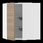 Угловой навесной шкаф с вращающимися секциями