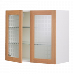 Навесной шкаф с 2 стеклянными дверями