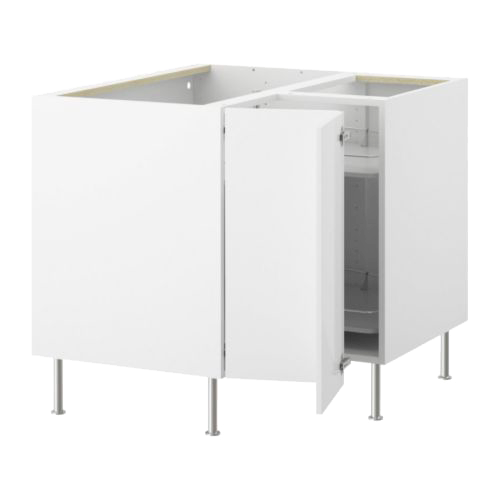 Угловой напольный шкаф с вращающейся секцией