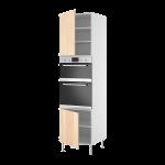 Высокий шкаф д/двойн духовки DOV8/2+2дверьми