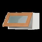 Горизонтальный навесной шкаф со стеклянной дверью