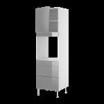 Высокий шкаф для духовки с дверью и 3 ящиками