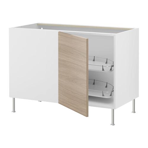 Угловой напольный шкаф с выдвижными секциями